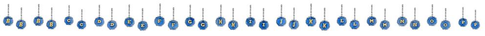 2028 Silver Tone Blue Enamel Gold Tone Initial Earrings
