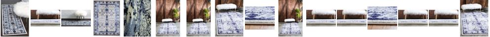 Bridgeport Home Aldrose Ald6 Blue Area Rug Collection