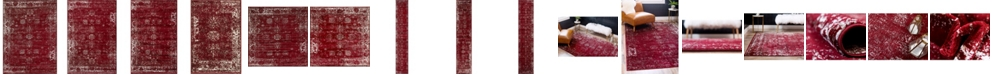 Bridgeport Home Basha Bas1 Burgundy Area Rug Collection
