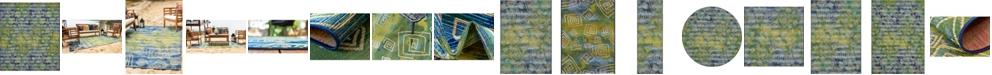 Bridgeport Home Pashio Pas2 Navy Blue Area Rug Collection