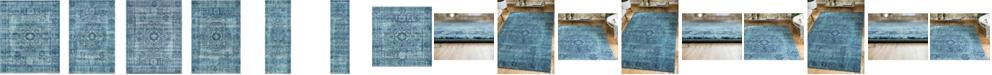 Bridgeport Home Wisdom Wis3 Turquoise Area Rug Collection