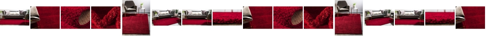 Bridgeport Home Salon Solid Shag Sss1 Red Area Rug Collection