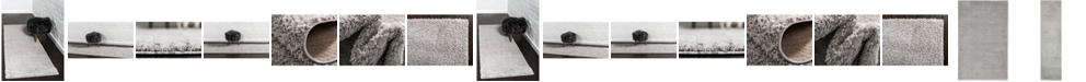 Bridgeport Home Salon Solid Shag Sss1 Light Gray Area Rug Collection