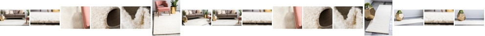 Bridgeport Home Salon Solid Shag Sss1 White Area Rug Collection