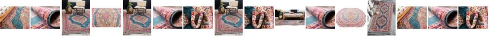 Bridgeport Home Kenna Ken1 Turquoise Area Rug Collection