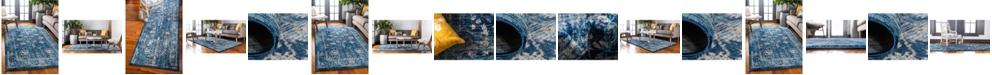 Bridgeport Home Masha Mas3 Navy Blue Area Rug Collection
