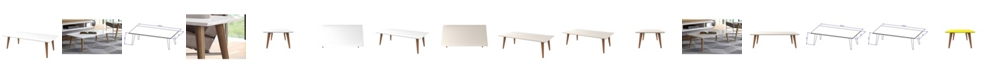 """Manhattan Comfort Utopia 11.81"""" High Rectangle Coffee Table with Splayed Legs"""