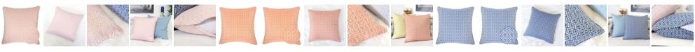 Homey Cozy Maggie Jacquard Square Decorative Throw Pillow