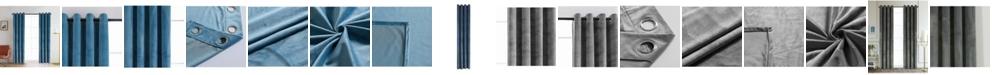 "Lyndale Decor Regency Velvet Room Darkening Curtain, 126"" L x 52"" W"
