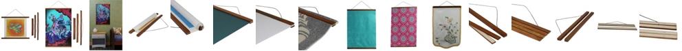 "3 Stories Trading Magnetic Wooden Poster Hanger Frame - 24"" x 1"""