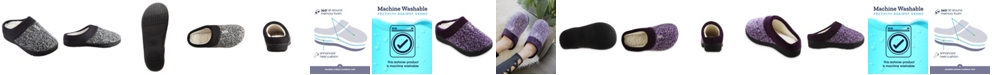 Isotoner Signature Women's Heathered Knit Jessie Hoodback Slippers