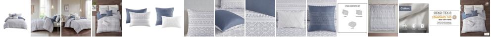 Urban Habitat Lizbeth Full/Queen Cotton Clip Jacquard Comforter, Set of 5