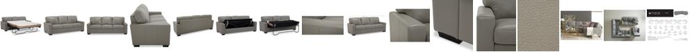 "Furniture Ennia 82"" Leather Queen Sleeper Sofa, Created for Macy's"