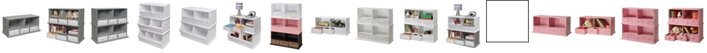 Badger Basket Stackable Shelf Storage Cubby With Three Baskets