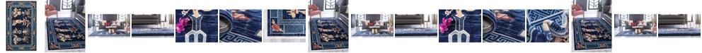 Bridgeport Home Sahil Sah6 Navy Blue Area Rug Collection
