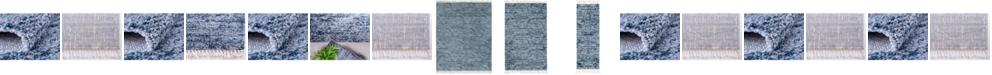 Bridgeport Home Lochcort Shag Loc3 Blue Area Rug Collection