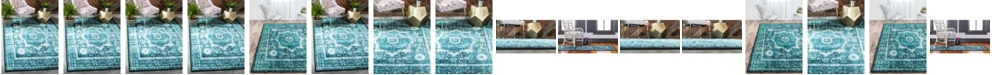 Bridgeport Home Linport Lin7 Turquoise Area Rug Collection