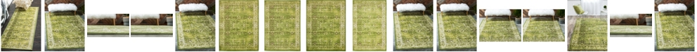 Bridgeport Home Linport Lin1 Green Area Rug Collection