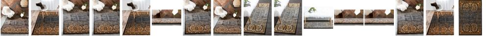 Bridgeport Home Linport Lin6 Black Area Rug Collection