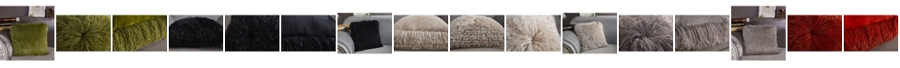 """Amazing Rugs Decorative Shaggy Pillow with Lurex 18"""" x 18"""""""