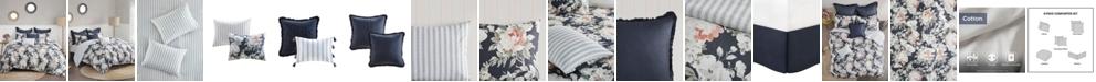 Madison Park Mavis 8 Piece Queen Cotton Printed Reversible Comforter Set