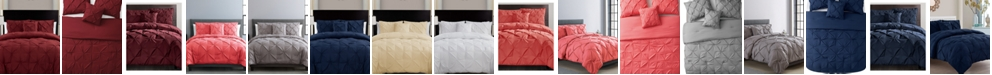 VCNY Home Carmen 3-Pc. Ruched Queen Duvet Cover Set