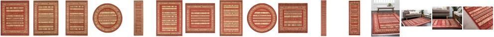 Bridgeport Home Ojas Oja4 Rust Red Area Rug Collection