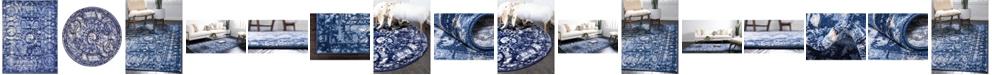 Bridgeport Home Aldrose Ald3 Blue Area Rug Collection