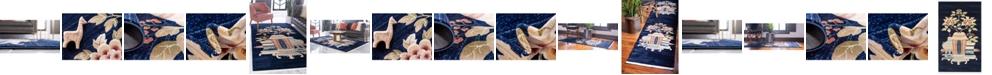 Bridgeport Home Sahil Sah7 Navy Blue Area Rug Collection