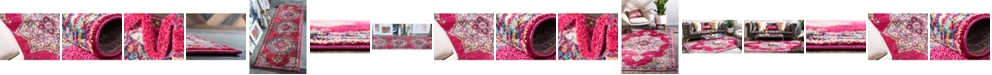 Bridgeport Home Sana San1 Fuchsia Area Rug Collection