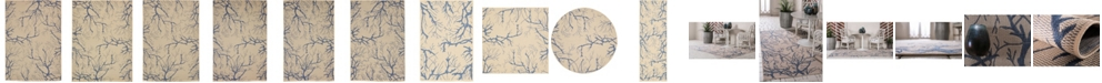 Bridgeport Home Pashio Pas6 Beige/Navy Area Rug Collection