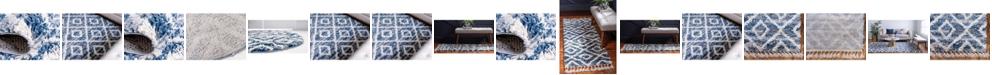 Bridgeport Home Lochcort Shag Loc2 Blue Area Rug Collection