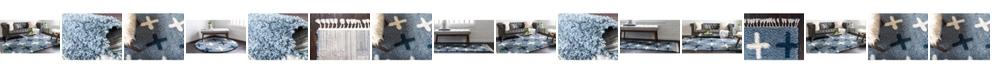 Bridgeport Home Lochcort Shag Loc7 Blue Area Rug Collection
