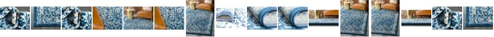 Bridgeport Home Masha Mas2 Navy Blue Area Rug Collection