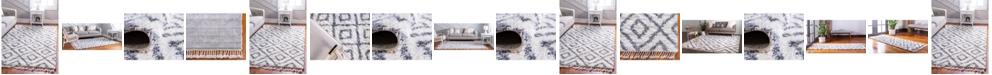 Bridgeport Home Lochcort Shag Loc2 Ivory Area Rug Collection