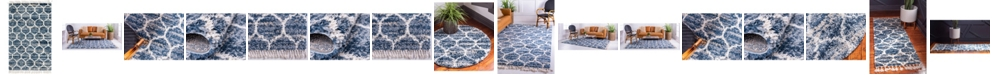 Bridgeport Home Lochcort Shag Loc1 Blue Area Rug Collection