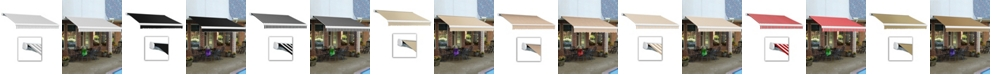 """Awntech 8' Key West Full Cassette Right Motor, Remote Retractable Awning, 78"""" Projection"""