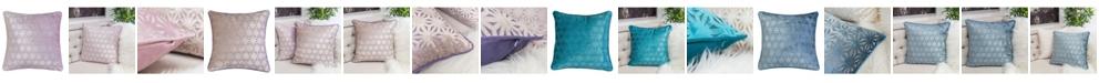 Homey Cozy Allison Modern Velvet Square Decorative Throw Pillow