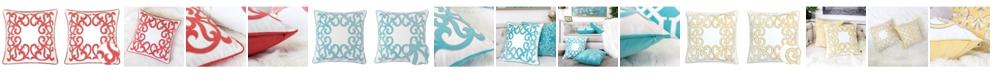 Homey Cozy Curl Applique Embroidery Throw Pillow