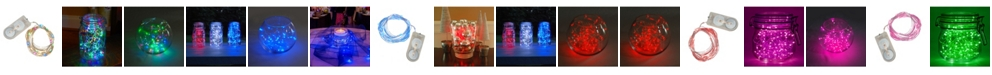 Macy's Lumabase Set of 6, 120 Battery Operated LED Fairy String Lights