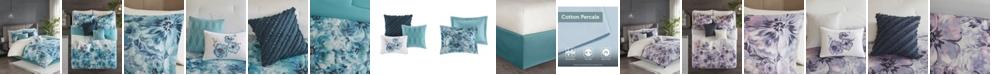 JLA Home Madison Park Enza King 7 Piece Cotton Printed Comforter Set