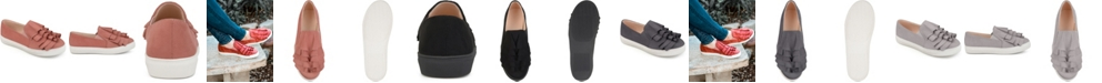 Journee Collection Women's Glint Sneakers