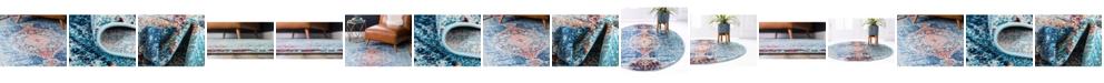 Bridgeport Home Brio Bri6 Turquoise Area Rug Collection