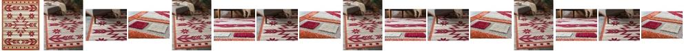 Bridgeport Home Pashio Pas2 Burgundy Area Rug Collection