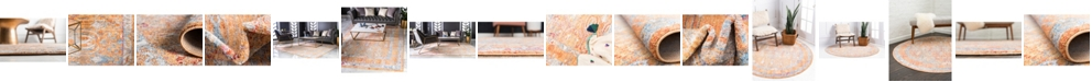 Bridgeport Home Zilla Zil2 Orange Area Rug Collection