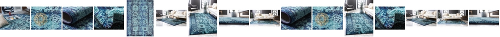 Bridgeport Home Sana San4 Turquoise Area Rug Collection