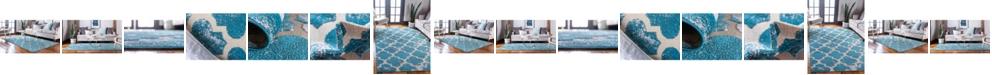 Bridgeport Home Pashio Pas2 Turquoise Area Rug Collection