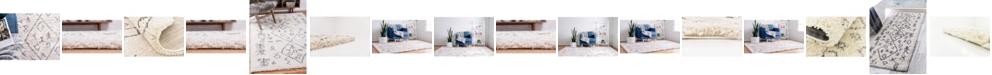Bridgeport Home Fazil Shag Faz1 Ivory Area Rug Collection