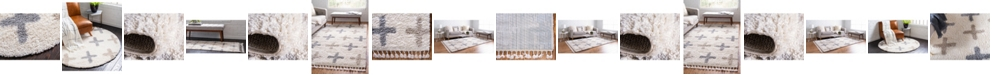 Bridgeport Home Lochcort Shag Loc7 Ivory Area Rug Collection