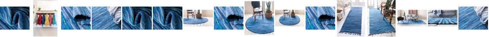 Global Rug Designs Global Rug Design Jari Striped Jar1 Navy Blue Area Rug Collection